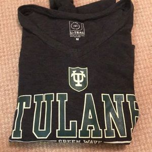 Tops - TULANE UNIVERSITY long sleeve v neck knit💚